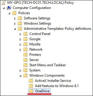 GPO - OneDrive configuration