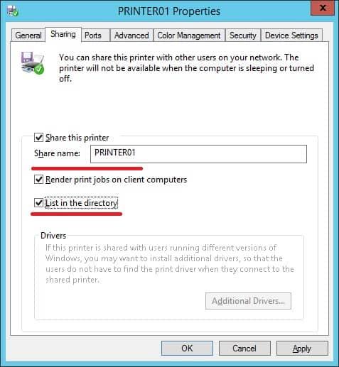 GPO - Printer share