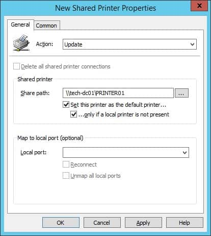 GPO - Shared printer installation