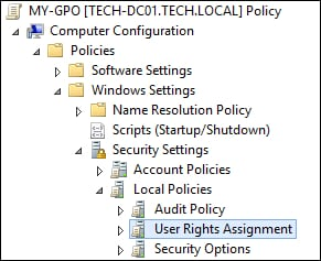 GPO - User Rights Assignment