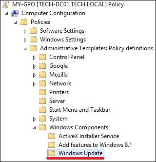 GPO - Windows Update configuration