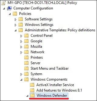 GPO - Windows defender configuration