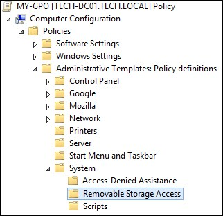 GPo - Removable Storage Access