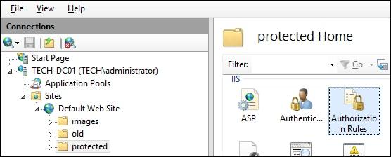 IIS - Authorization configuration