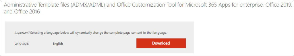 GPO - Microsoft Office policy template