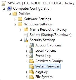 GPO Configure Service Windows