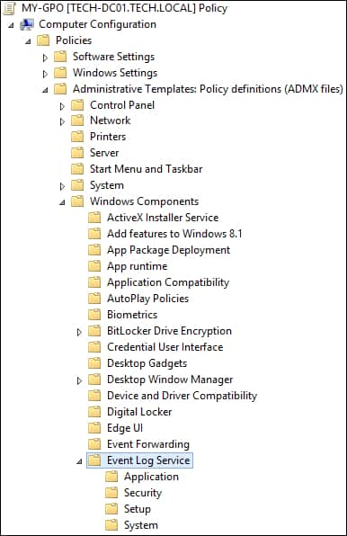 GPO - Configure the Event log service
