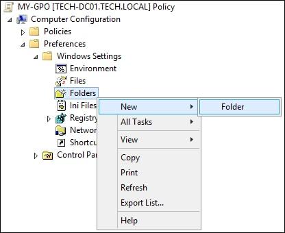 GPO - Create a folder