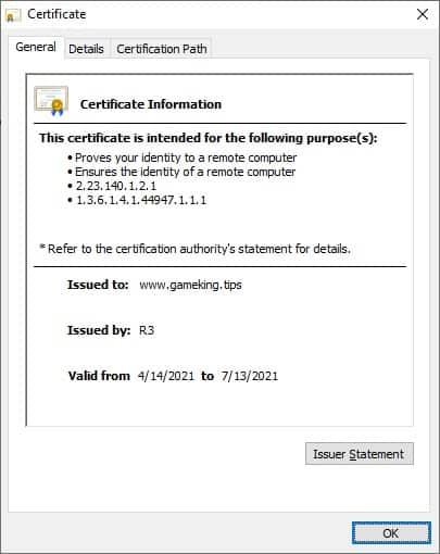 Nginx - HTTPS Certificate