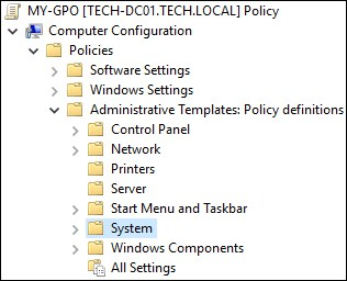 GPO - Administrative templates - System