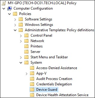 GPO - Enable Device Guard