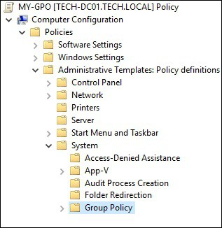 GPO - Group policy configuration