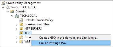 GPO - Link to OU