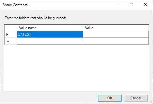 GPO - Protected folders example