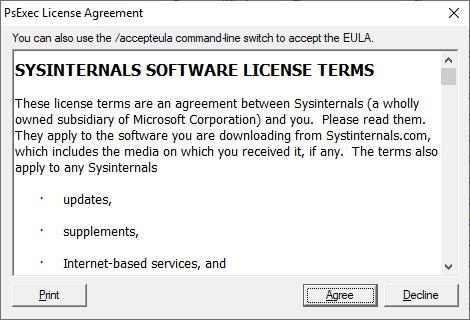 Pxexec license agreement
