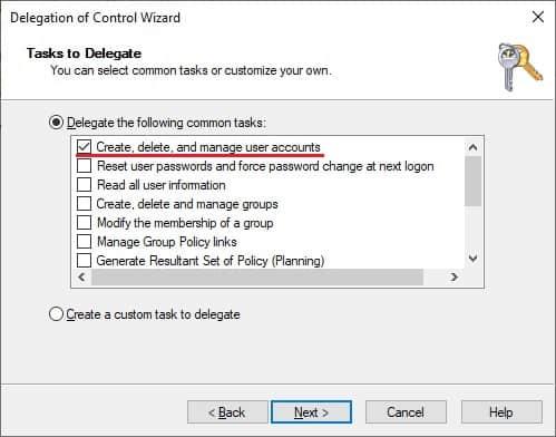 AD - Delegate permission to create user accounts