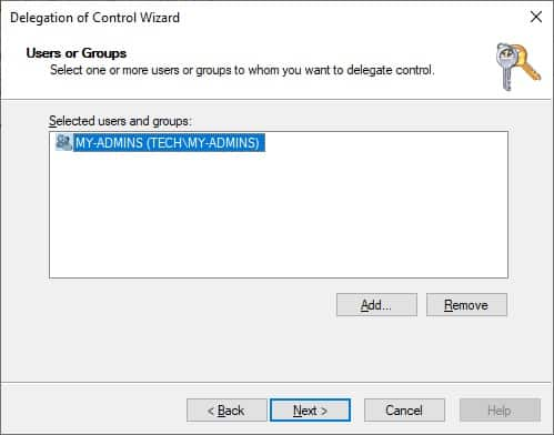 Active Directory - Delegate Permissions