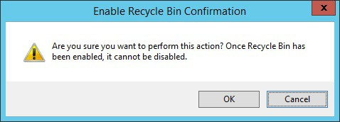Active Directory - Enable the Recycle bin