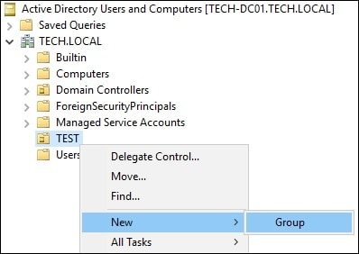 Active Directory - Permission to create groups