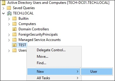Active Directory - Permission to create user accounts