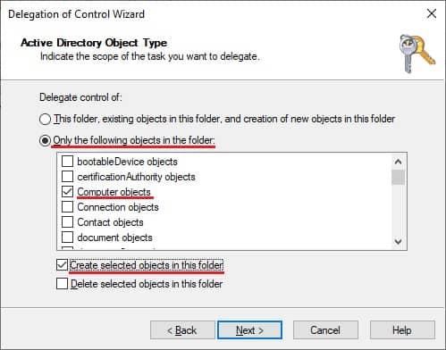 Delegate permission - Add computers
