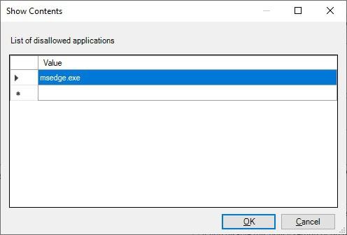 GPO - Blocking Microsoft Edge