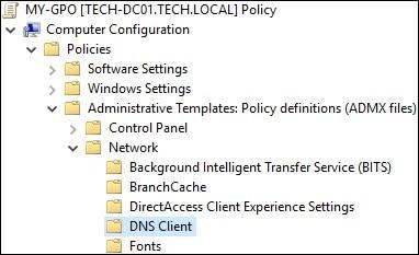 GPO - Configure DNS client