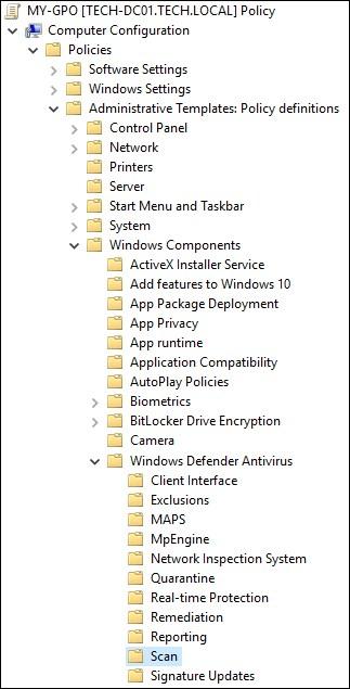 GPO - Windows defender scan