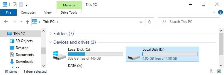 Windows - Mount VHD VHDX file