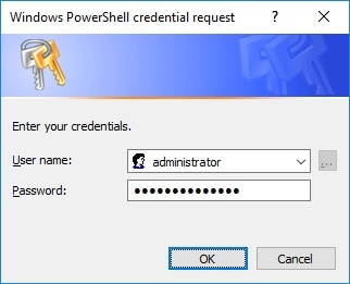 Powershell - Administrative credential